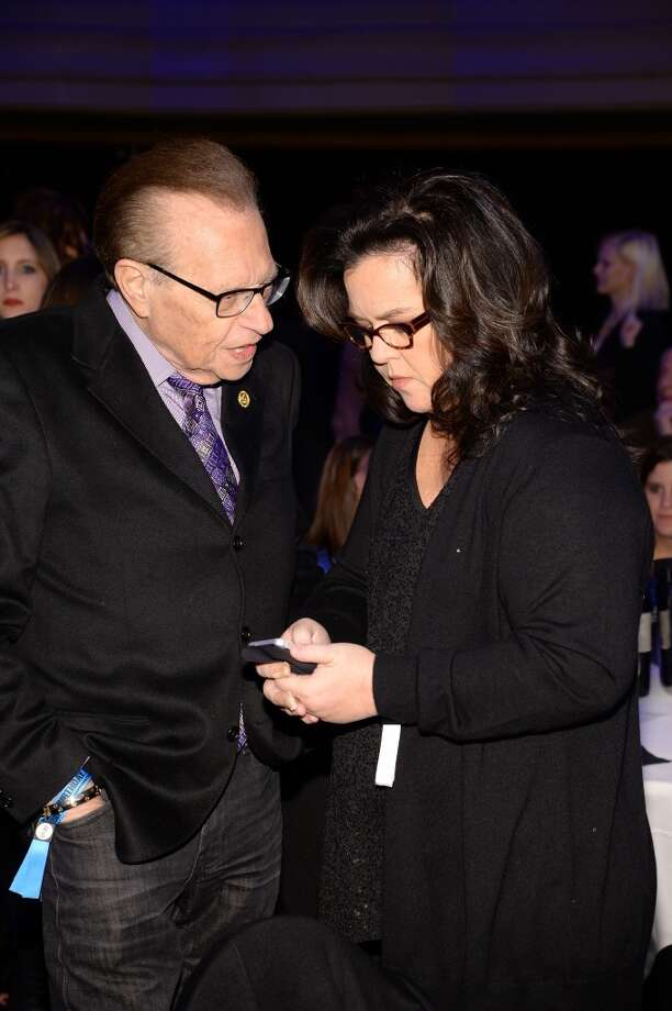"Larry King and Rosie O'Donnell attend ""Howard Stern's Birthday Bash"" presented by SiriusXM, produced by Howard Stern Productions at Hammerstein Ballroom on January 31, 2014 in New York City. Photo: Larry Busacca, Getty Images For SiriusXM"