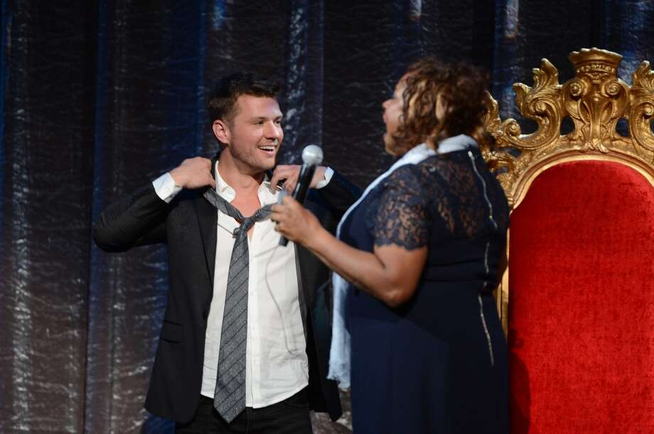 "Robin Quivers and Ryan Phillipe onstage at ""Howard Stern's Birthday Bash"" presented by SiriusXM, produced by Howard Stern Productions at Hammerstein Ballroom on January 31, 2014 in New York City. Photo: Theo Wargo, Getty Images For SiriusXM"