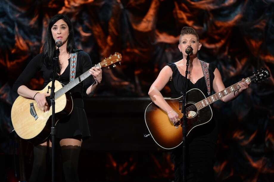 """Sarah Silverman and Natalie Maines attend """"Howard Stern's Birthday Bash"""" presented by SiriusXM, produced by Howard Stern Productions at Hammerstein Ballroom on January 31, 2014 in New York City. Photo: Theo Wargo, Getty Images For SiriusXM"""