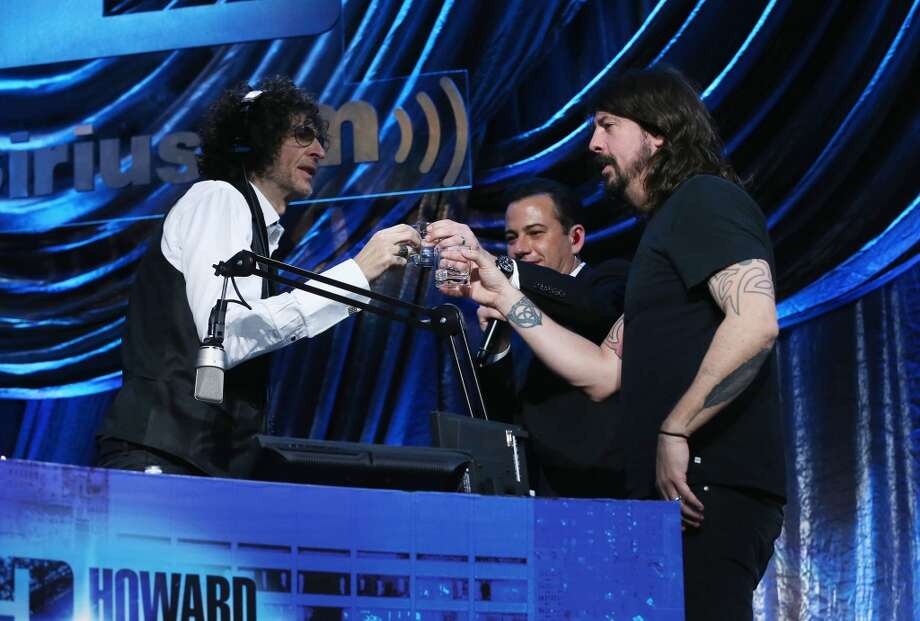 """(L-R)  Howard Stern, Jimmy Kimmel and Dave Grohl attend """"Howard Stern's Birthday Bash"""" presented by SiriusXM, produced by Howard Stern Productions at Hammerstein Ballroom on January 31, 2014 in New York City. Photo: Larry Busacca, Getty Images For SiriusXM"""