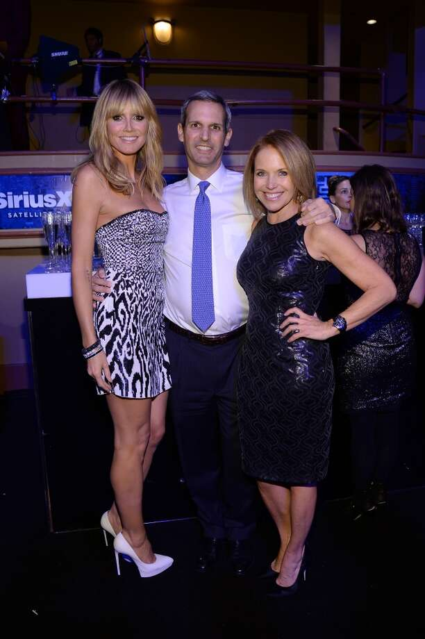 "Heidi Klum, John Molner and Katie Couric attend ""Howard Stern's Birthday Bash"" presented by SiriusXM, produced by Howard Stern Productions at Hammerstein Ballroom on January 31, 2014 in New York City. Photo: Larry Busacca, Getty Images For SiriusXM"
