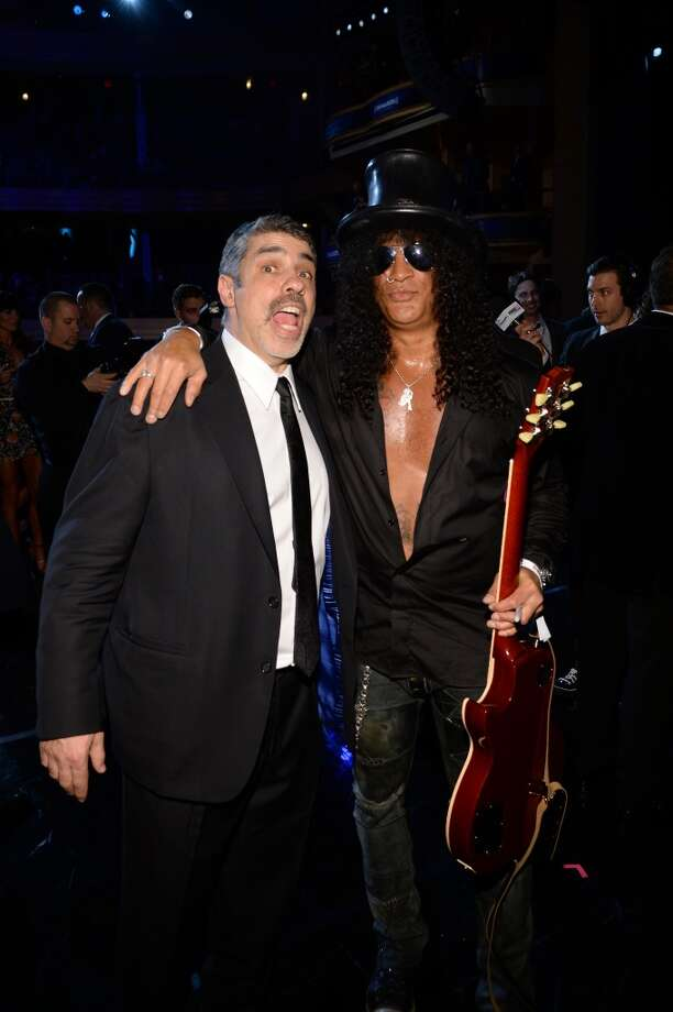 "Gary Dell'Abate and Slash attend ""Howard Stern's Birthday Bash"" presented by SiriusXM, produced by Howard Stern Productions at Hammerstein Ballroom on January 31, 2014 in New York City. Photo: Larry Busacca, Getty Images For SiriusXM"
