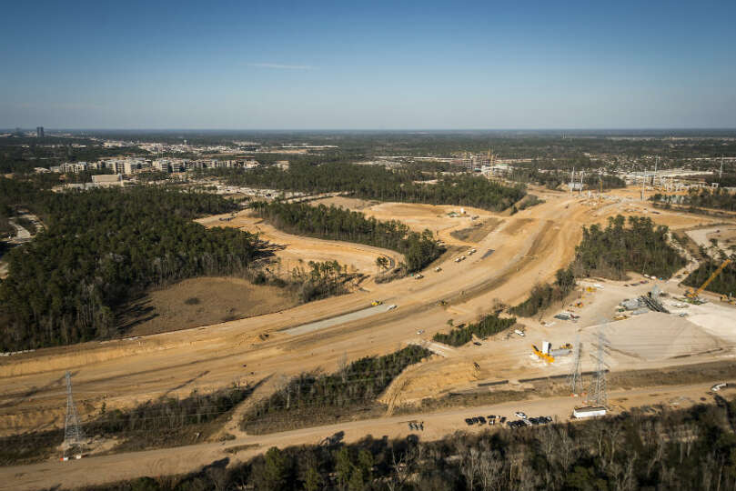 May 2013: The new Exxon Mobil corporate campus under construction near The Woodlands is seen just no