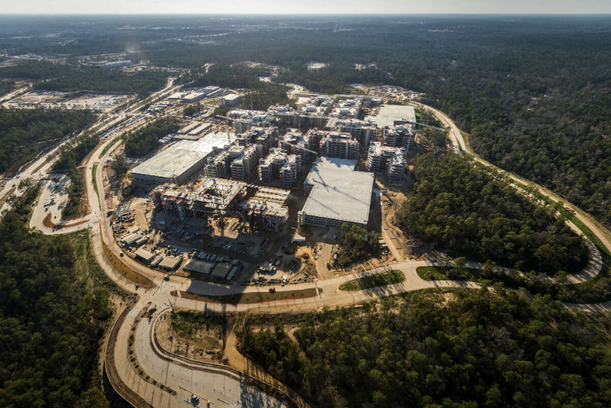 May 2013: The new Exxon Mobil corporate campus under construction near The Woodlands is seen on Thursday, May 23, 2013.