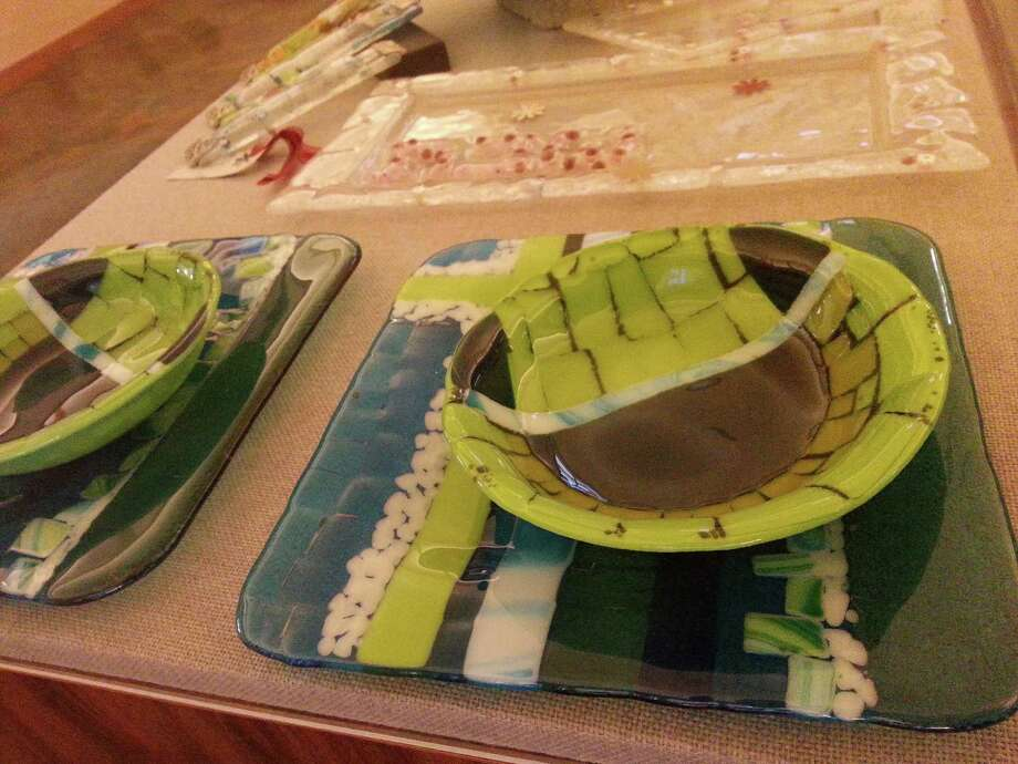 A new exhibit of glass fusion and mosaic by Elisa Werboff is currently on display at the Schenectady JCC. (Irit Magnes)