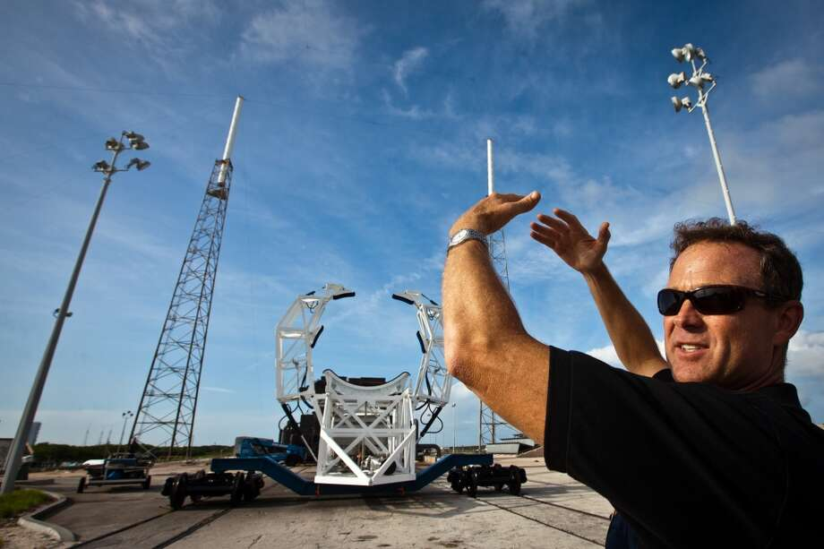 Scott Henderson, director of mission assurance and integration, shows off the SpaceX launch pad at Cape Canaveral, on July 6, 2011.  (Smiley N. Pool / Houston Chronicle) Photo: Smiley N. Pool, Houston Chronicle