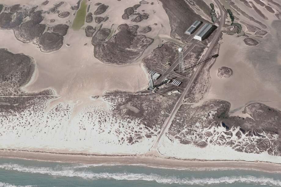 This artist rendering shows the proposed spaceport at Boca Chica Beach in Cameron County, Texas, near Brownsville. (SpaceX) Photo: Space X