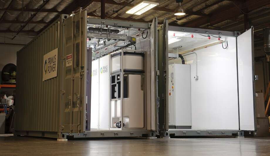 Hayward firm Primus Power's EnergyPod bundles batteries together to store large amounts of energy at a reasonable cost. Photo: Primus Power