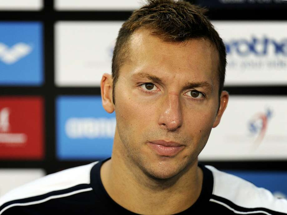 FILE - In this Nov. 5, 2011 file photo,Ian Thorpe, of Australia, speaks during a news conference after failing to qualify for the men's 100-meter butterfly event of the Swimming World Cup in Singapore. The manager of Olympic swimming great Ian Thorpe says the five-time gold medalist is in rehab after being found disoriented on a Sydney street early Monday Feb. 3, 2014 by police responding to a call from residents. James Erskine told the Australian Associated Press that Thorpe was affected by a combination of antidepressants and the painkillers he was taking for a shoulder injury. (AP Photo/Bryan van der Beek, File) Photo: Bryan Van Der Beek, Associated Press