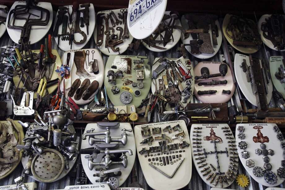 """1. Barney Smith's Toilet Seat Art Museum- 239 Abiso Ave. Decorated toilet seats everywhere. Atlas Obscura says: """"This is a free museum, just make sure to call up first."""" Photo: KIN MAN HUI, AP"""