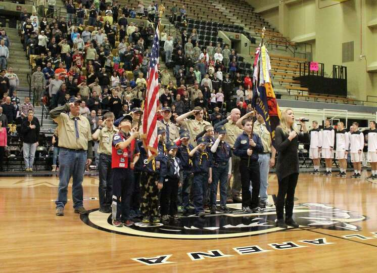 Pete Hennessy of Ballston Lake photographed the Jan. 25 Army-American University basketball game at