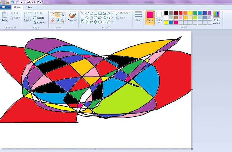 Paint - Spending spare time on the computer meant tapping into our inner artists by scribbling on paint and then filling in the spaces different colors.  Photo: Ashley Bellinger, Paint