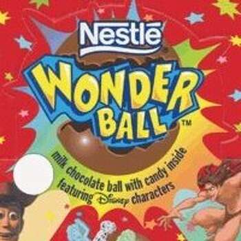 Wonder Balls - chocolate spheres with candy or toys inside that everyone loved. Photo: Nestle