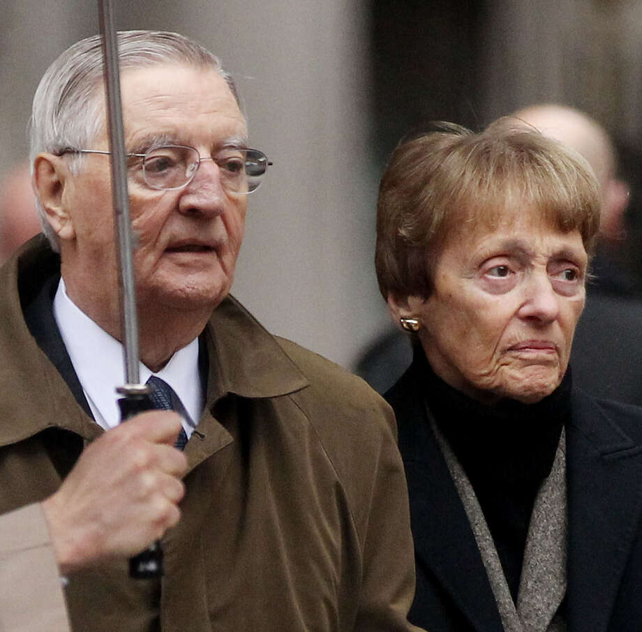 Former Vice President Walter Mondale and Joan Mondale attend Geraldine Ferraro's funeral in 2011. Photo: Getty Images File Photo / 2011 Getty Images