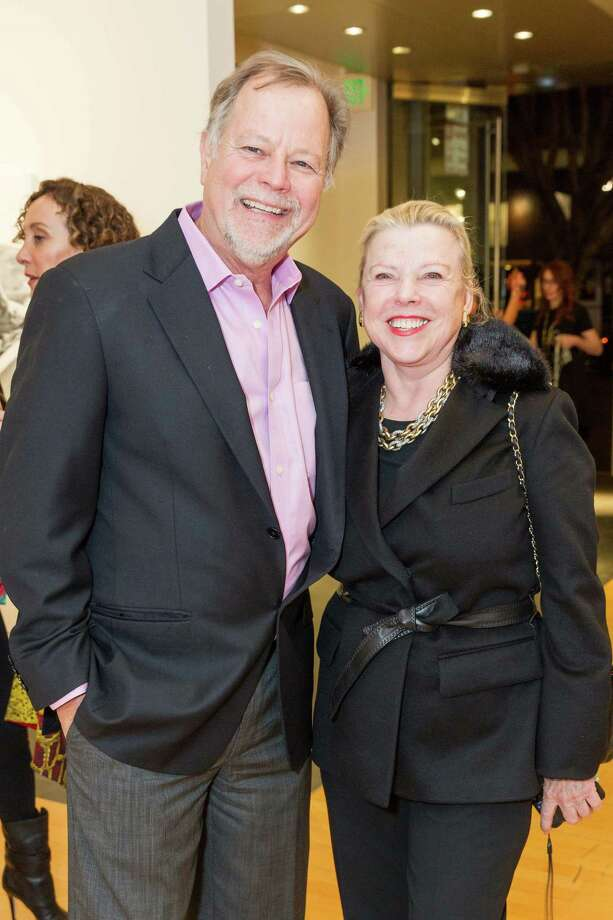 Oliver Caldwell and Jeanie Lawrence at the Caldwell Snyder Gallery 30th anniversary celebration on January 30, 2014 in San Francisco. Photo: Drew Altizer Photography/SFWIRE, Drew Altizer Photography / ©2014 by Drew Altizer, all rights reserved