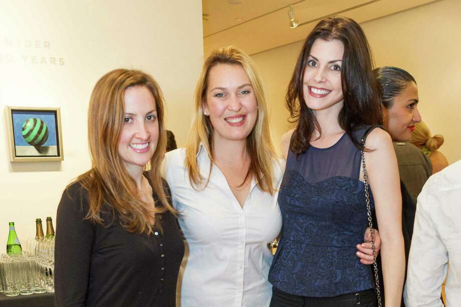 Elizabeth Heuser, Eva Fordham and Jenny Georges at the Caldwell Snyder Gallery 30th anniversary celebration on January 30, 2014 in San Francisco. Photo: Drew Altizer Photography/SFWIRE, Drew Altizer Photography / ©2014 by Drew Altizer, all rights reserved
