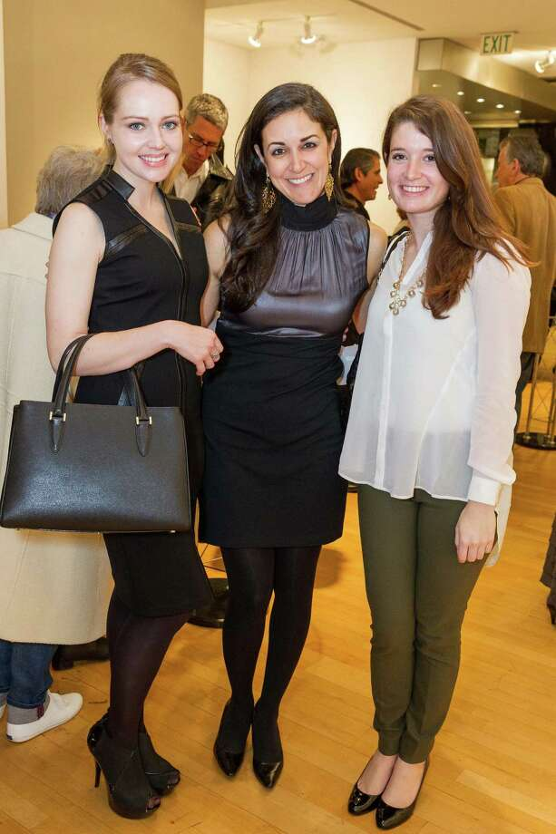 Anna Hydelund, Nicole Lemon and Katharine James at the Caldwell Snyder Gallery 30th anniversary celebration on January 30, 2014 in San Francisco. Photo: Drew Altizer Photography/SFWIRE, Drew Altizer Photography / ©2014 by Drew Altizer, all rights reserved