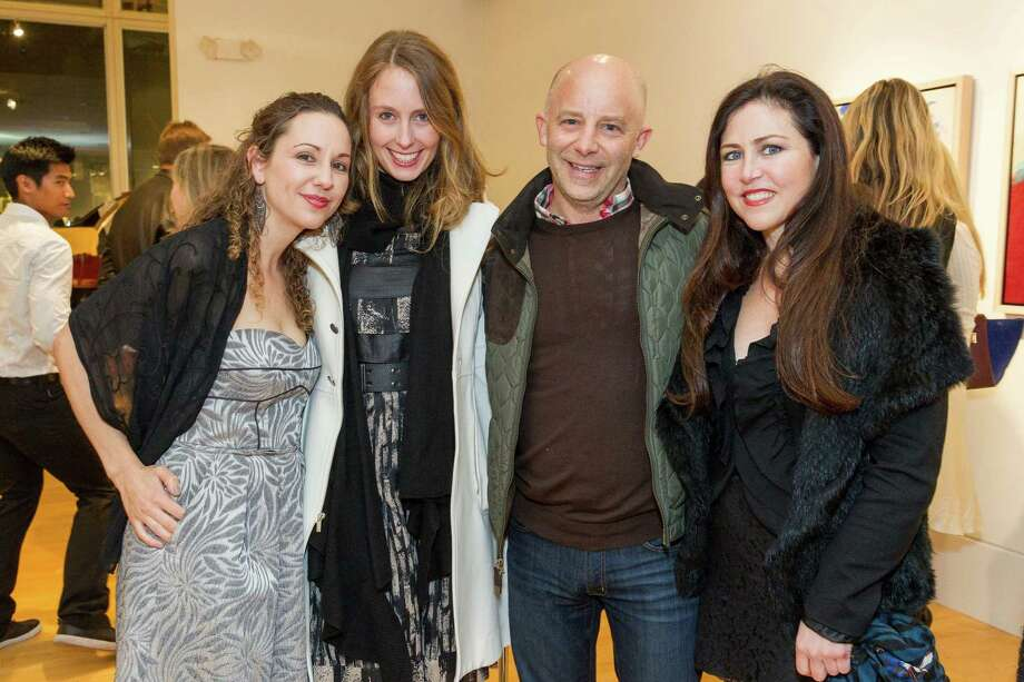 Christina Maybaum, Statie Patton, Eduardo Rallo and Carolina Zorrilla De San Martin at the Caldwell Snyder Gallery 30th anniversary celebration on January 30, 2014 in San Francisco. Photo: Drew Altizer Photography/SFWIRE, Drew Altizer Photography / ©2014 by Drew Altizer, all rights reserved