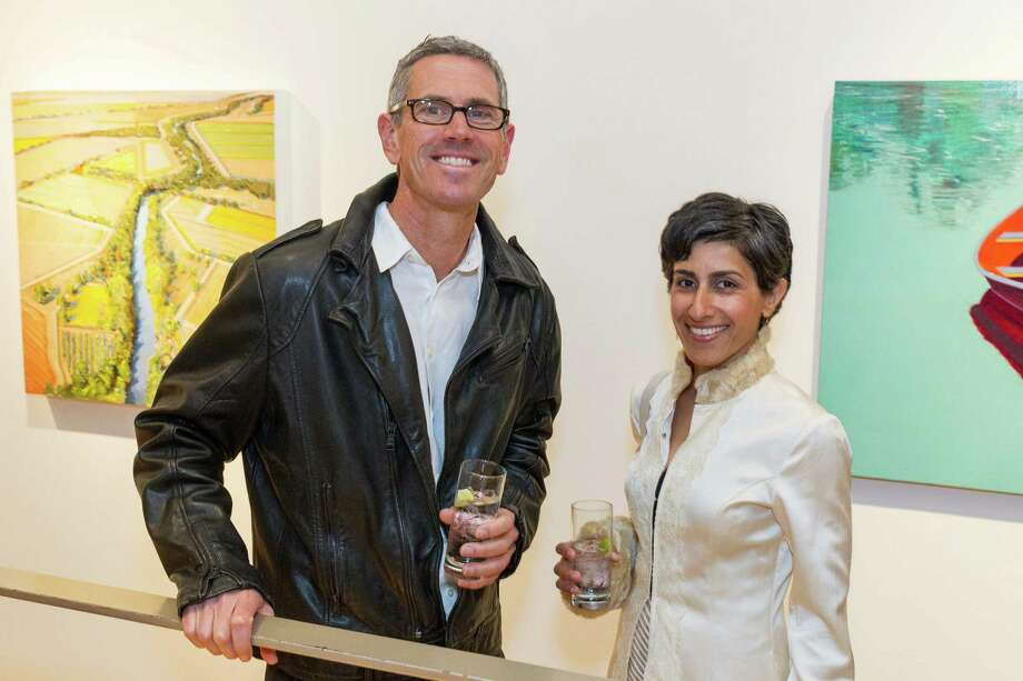 Nicholas Wilton and Laila Rezai at the Caldwell Snyder Gallery 30th anniversary celebration on January 30, 2014 in San Francisco. Photo: Drew Altizer Photography/SFWIRE, Drew Altizer Photography / ©2014 by Drew Altizer, all rights reserved