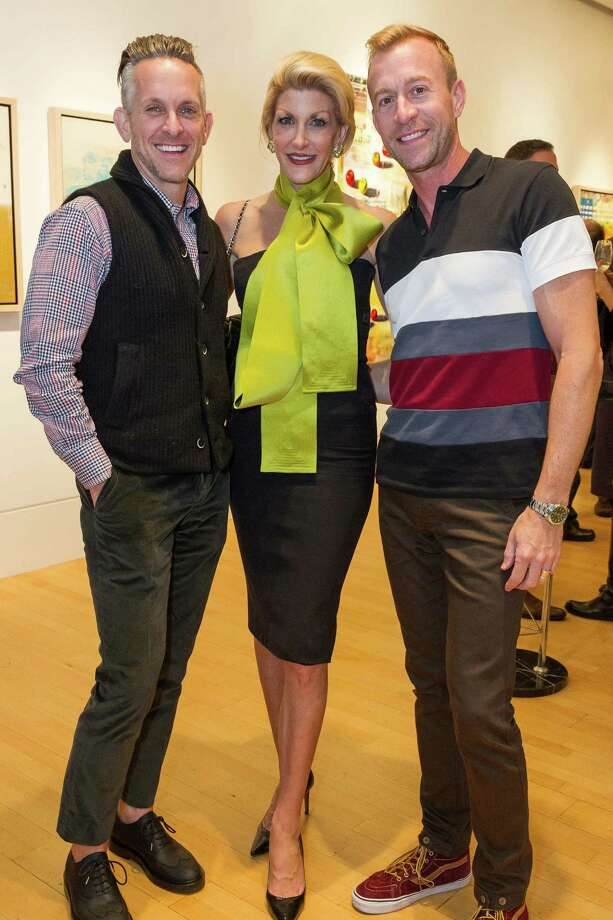 Jay Jeffers, Karen Caldwell and Michael Purdy at the Caldwell Snyder Gallery 30th anniversary celebration on January 30, 2014 in San Francisco. Photo: Drew Altizer Photography/SFWIRE, Drew Altizer Photography / ©2014 by Drew Altizer, all rights reserved
