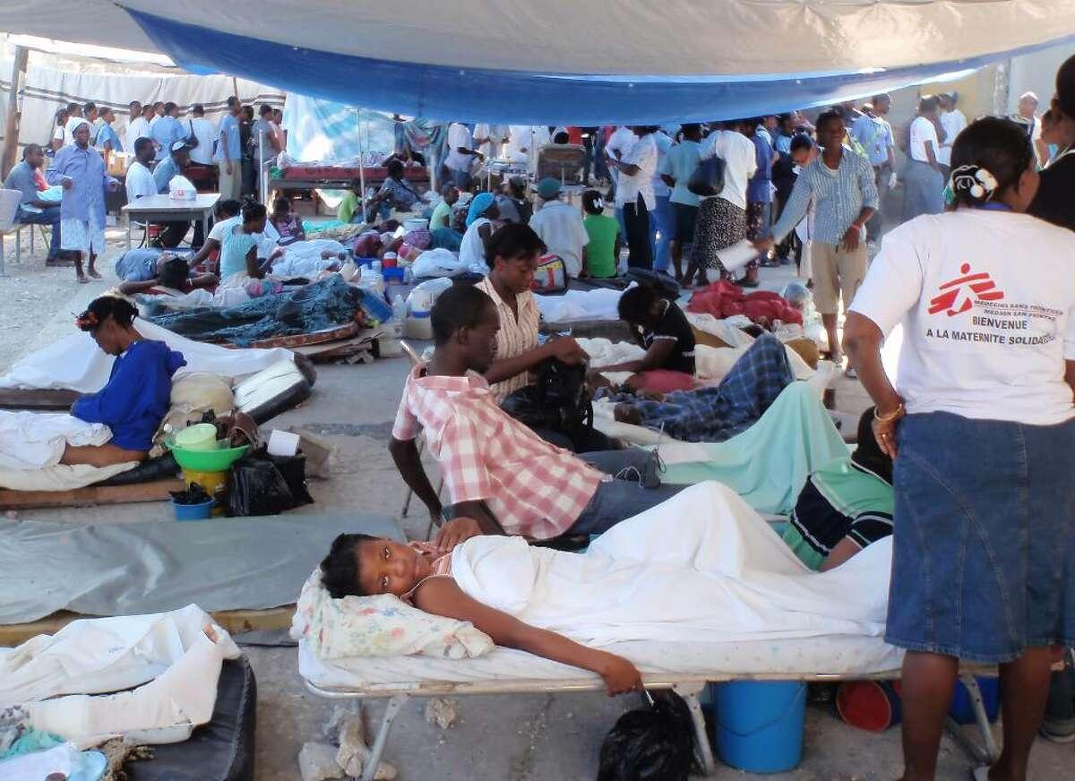 Victims of the Haitian earthquake, Jan. 2010.