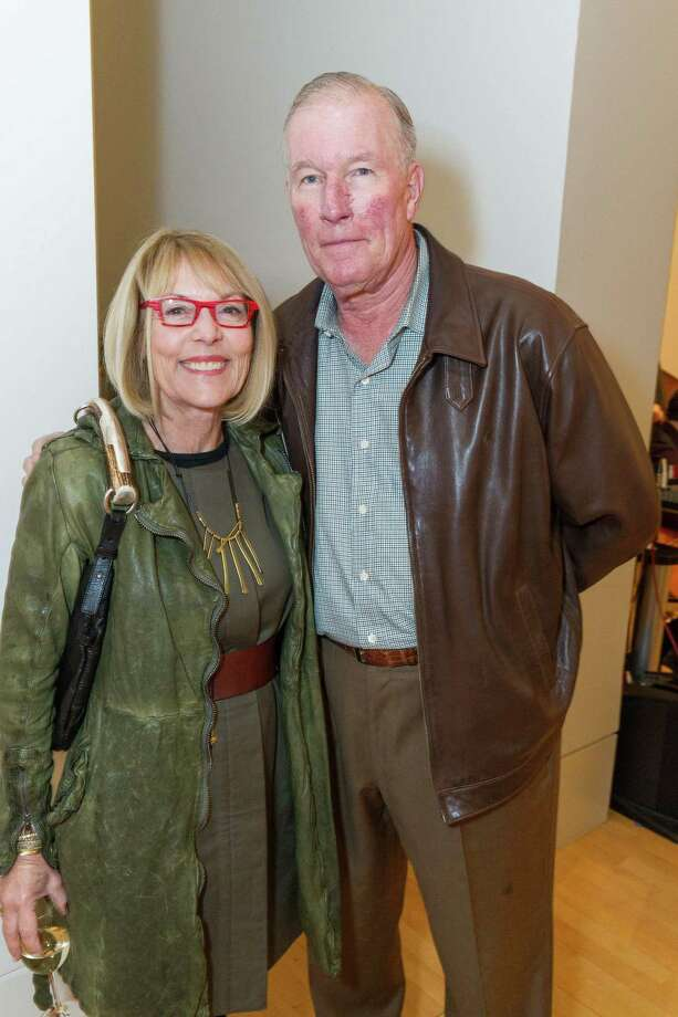 Jane Jackson and David Jackson at the Caldwell Snyder Gallery 30th anniversary celebration on January 30, 2014 in San Francisco. Photo: Drew Altizer Photography/SFWIRE, Drew Altizer Photography / ©2014 by Drew Altizer, all rights reserved
