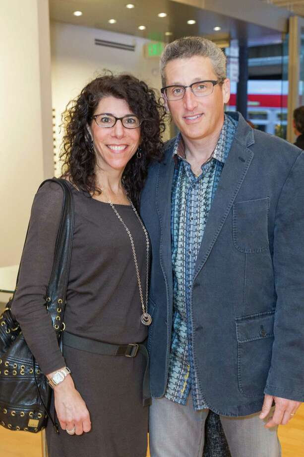 Jodi Grossfeld and Gary Grossfeld at the Caldwell Snyder Gallery 30th anniversary celebration on January 30, 2014 in San Francisco. Photo: Drew Altizer Photography/SFWIRE, Drew Altizer Photography / ©2014 by Drew Altizer, all rights reserved