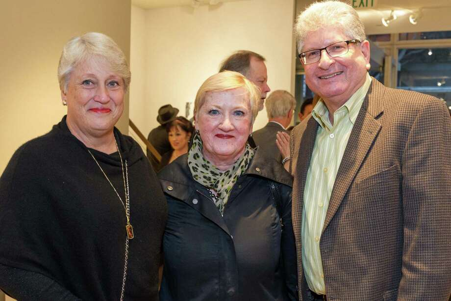 Sherrie Perlstein, Vickie Miller and Billy Perlstein at the Caldwell Snyder Gallery 30th anniversary celebration on January 30, 2014 in San Francisco. Photo: Drew Altizer Photography/SFWIRE, Drew Altizer Photography / ©2014 by Drew Altizer, all rights reserved
