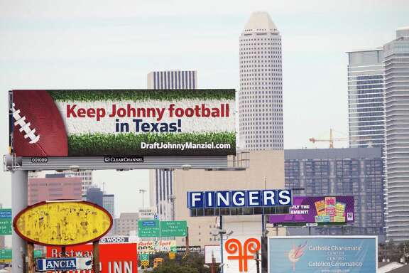 Houston attorney Tony Buzbee has taken out 12 billboards urging the Texans to draft Johnny Manziel.