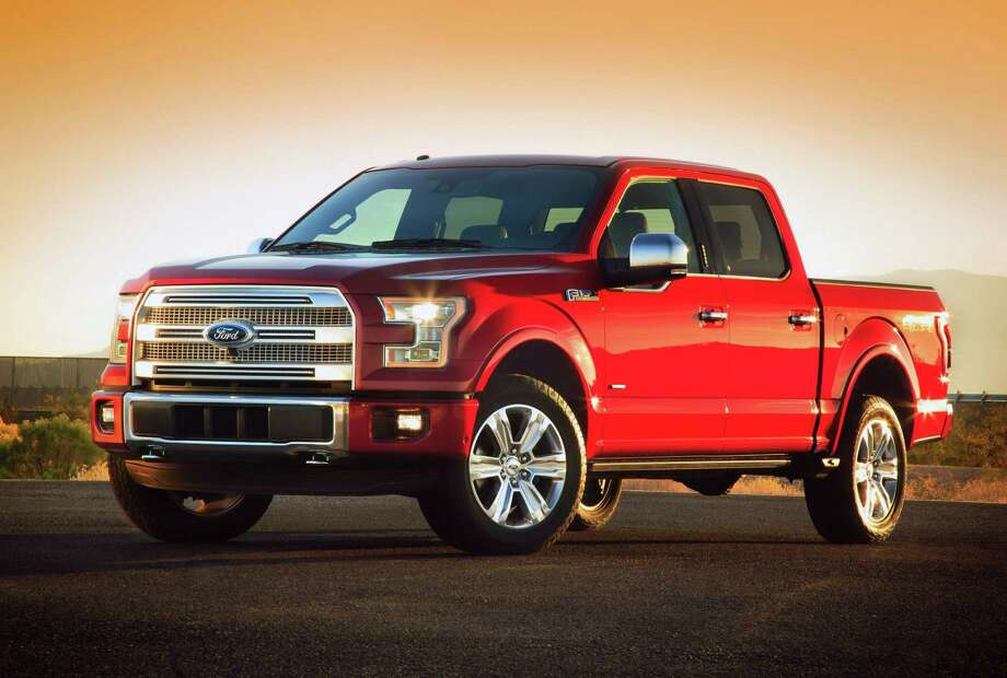 Sales of the Ford F-Series pickup declined 1 percent last month compared with January 2013. Ford unveiled its all-new F-150 at the 2014 North American International Auto Show in Detroit last month. Photo: Courtesy Of Ford Motor Co. / FORD MOTOR COMPANY
