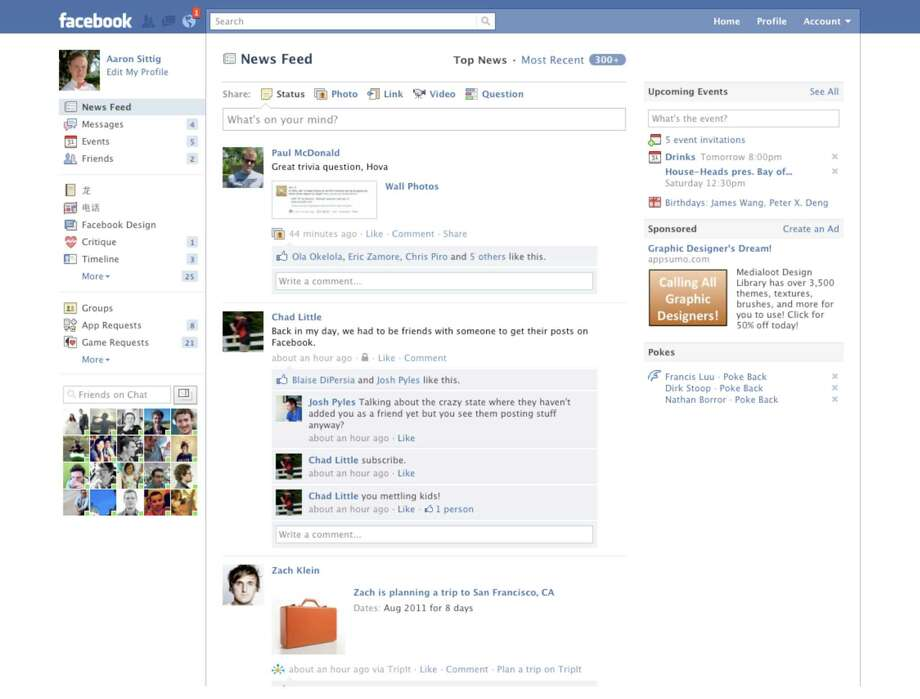 "The news feed's left rail got longer and more icon-dominated, looking even more like it does today. Facebook chat took on a new look. Facebook opened its first custom-built data center in January 2010 and reached 500 million users in June. ""The Social Network,"" starring Jesse Eisenberg as Zuckerberg, was released in 2010. The film received positive reviews and eight Oscar nominations, but was criticized by some for its dramatization of Facebook's early days. It depicted the contemptuous relationship Zuckerberg had with the Winklevoss twins, who have taken credit for the website's idea.Article: Even on top, Facebook looks for next big thing Photo: Facebook"
