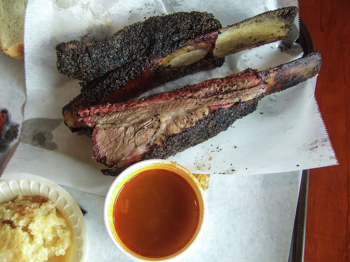 Beef ribs helped make Louie Mueller Barbecue famous in Central Texas.