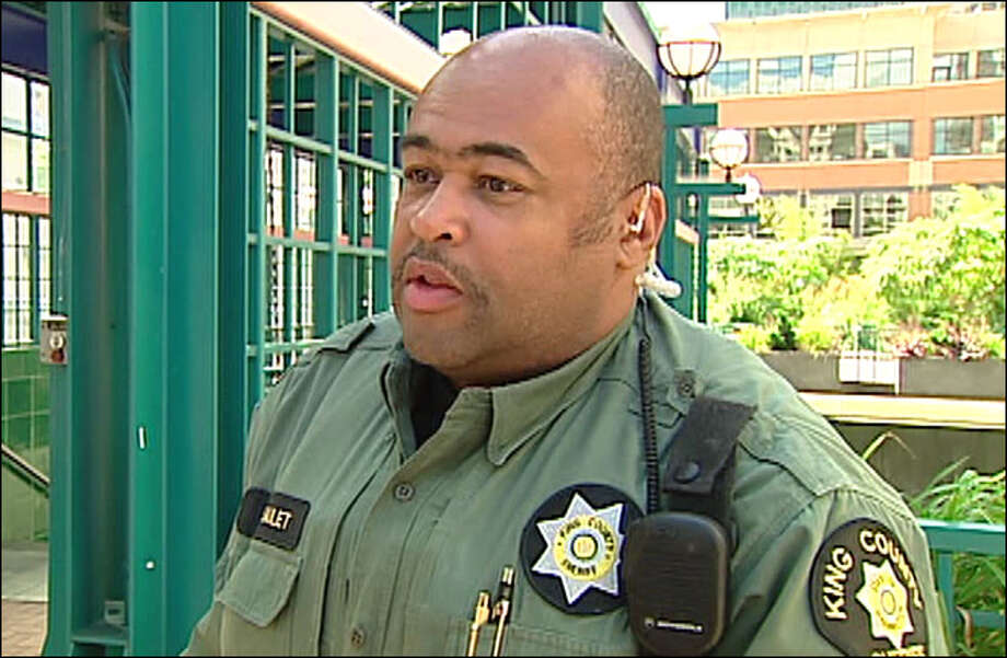 Deputy Casey Saulet was fired by King County Sheriff John Urquhart Monday after threatening a Stranger reporter last year. Photo: KOMO TV