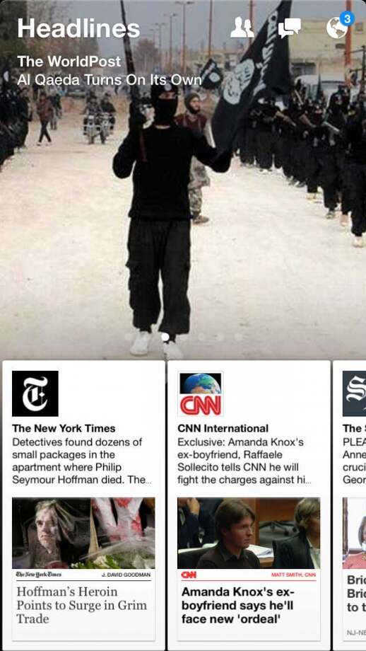 New sections draw on popular sources, such as CNN or the New York Times. Photo: Chronicle Screenshot