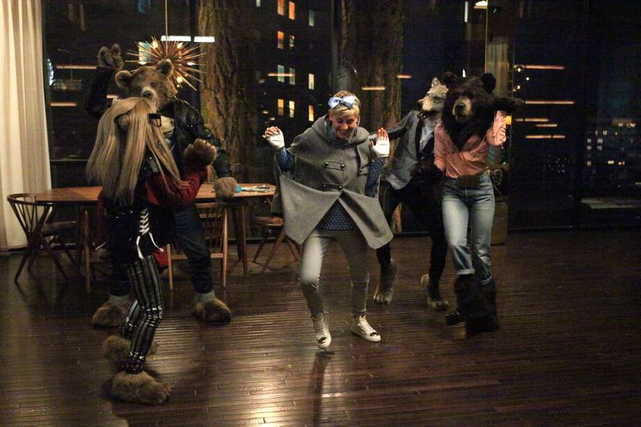 This undated frame grab provided by Beats shows the company's 2014 Super Bowl commercial. Beats by Dre, the popular headphones and audio equipment producer enlisted Ellen DeGeneres to star in its debut Super Bowl ad running in the third quarter that promotes Beats Music. (AP Photo/Beats) Photo: Associated Press