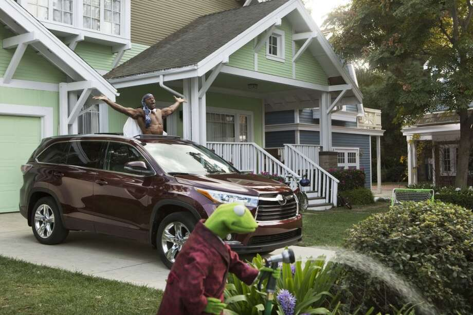 This undated frame grab provided by Toyota, shows the company's 2014 Super Bowl commercial. Toyota enlisted the Muppets for this year's advertising campaign. (AP Photo/Toyota) Photo: Associated Press