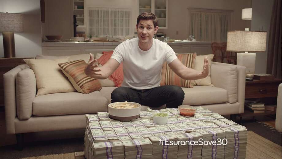 This undated image provided by Esurance shows the company's ad that aired just after the Super Bowl ended on Sunday, Feb. 2, 2014. The ad offered to give away $1.5 million. (AP Photo/Esurance) Photo: Uncredited, Associated Press