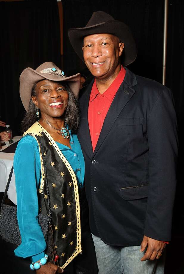 Jude Clarease and Cary Yates at the Houston Livestock Show and Rodeo Black Heritage Committee Annual Western Gala at Reliant Center Saturday Feb 1. (Dave Rossman photo) Photo: Dave Rossman, For The Houston Chronicle