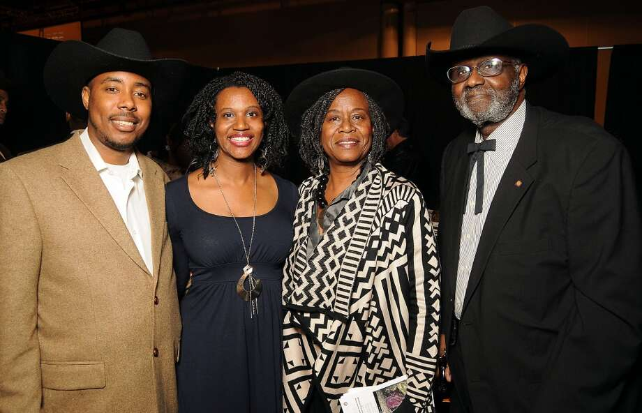 From left: Harry and Willette Aubrey with Sarah and Willie Trotty (Dave Rossman photo) Photo: Dave Rossman, For The Houston Chronicle