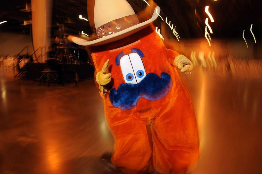 Howdy the rodeo mascot (Dave Rossman photo) Photo: Dave Rossman, For The Houston Chronicle