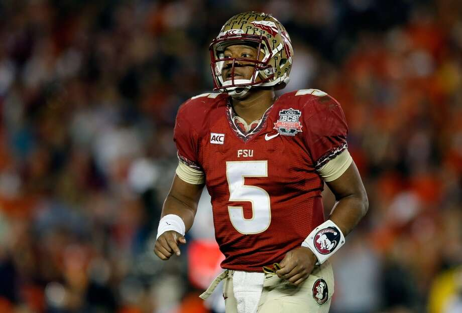 Jameis Winston  The 2013 Heisman Trophy winner led Florida State to a title. Winston will also play outfielder pitcher for the Seminoles and was named to the preseason All-American  team for baseball. Photo: Kevin C. Cox, Getty Images