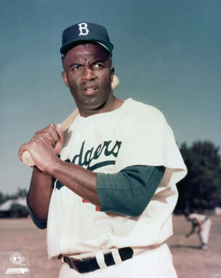 Jackie Robinson  The barrier-breaking second baseman was a busy man while at UCLA. Along with baseball he participated in basketball, football and track. Photo: Hulton Archive, Getty Images