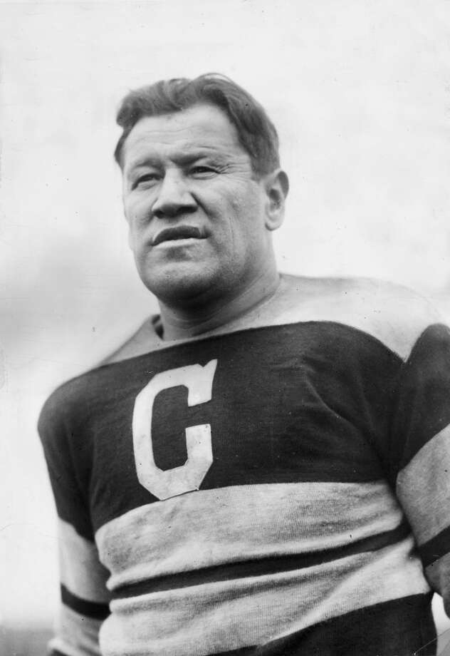 Jim Thorpe  Often regarded as one of the best athletes of the 20th century for his participation in the decathlon, pentathlon and in football. He played running back, defensive back and was also used as a kicker and punter. He also had short stints in professional baseball and basketball. Photo: Hulton Archive, Getty Images