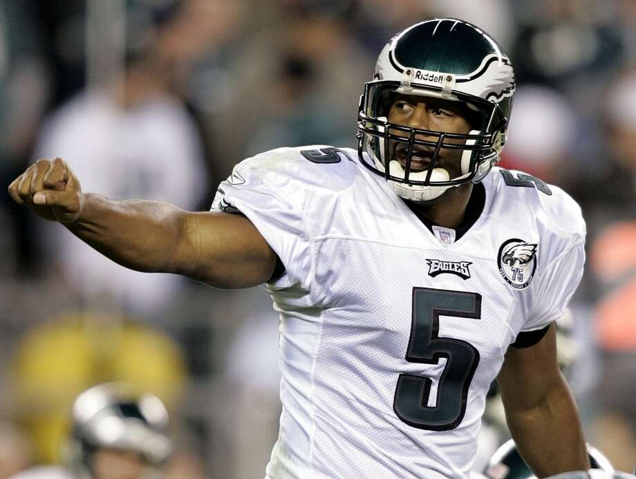 Donovan McNabb  He spent 13 seasons in the NFL, and all but two of them were for the Philadelphia Eagles. But during his college tenure at Syracuse, McNabb was a reserve guard for the Orange. Photo: Mel Evans, Associated Press