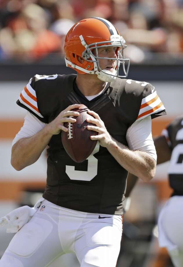 Brandon Weeden  Was drafted in the second round in the MLB draft of 2002 but never got out of the minor leagues. Weeden went back to college and started at quarterback for Oklahoma State before being drafted by the Cleveland Browns. Photo: Mark Duncan, Associated Press