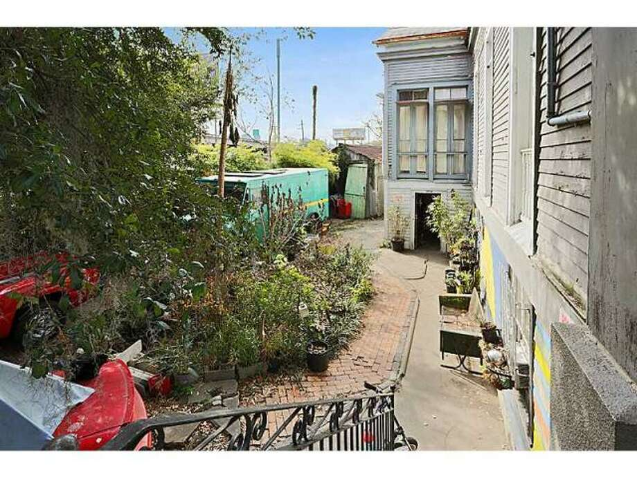 Back alley. Photo via MLS/Gardener Realtors.