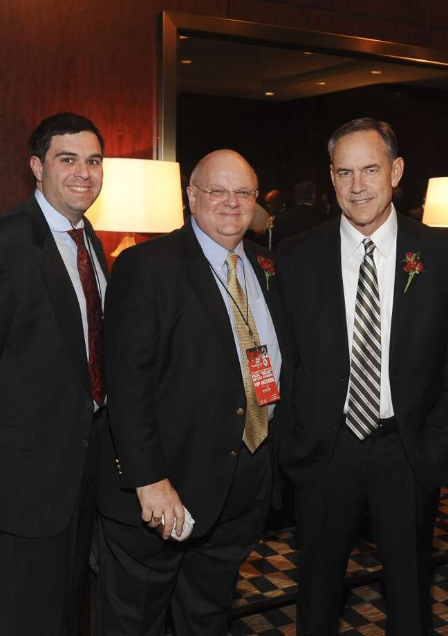 Daniel Friedman, Marc Helm and Mark Dantonio at the Paul Bear Bryant Annual Awards benefiting the American Heart Association. Photo: Alexander's Fine Portrait Design