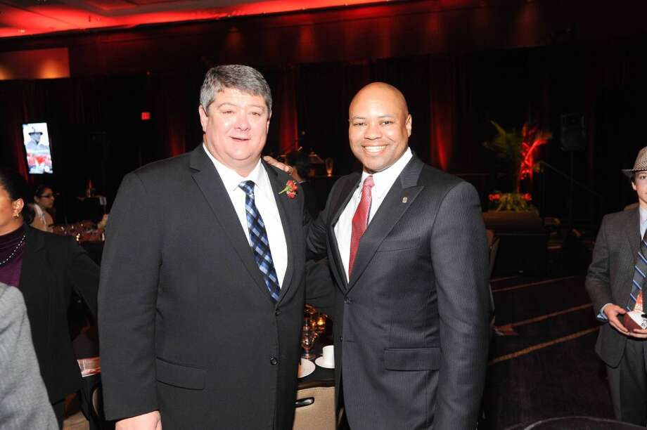 David Bailiff and David Shaw at the Paul Bear Bryant Annual Awards benefiting the American Heart Association. Photo: Alexander's Fine Portrait Design