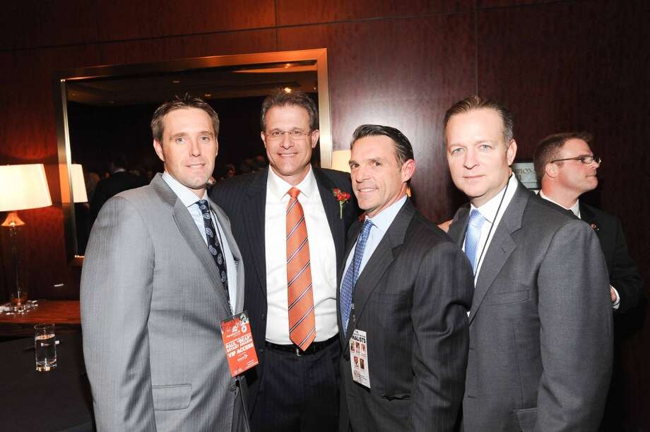 David Rook, Guz Malzahn, Clay Coneley and Darryl Robinson at the Paul Bear Bryant Annual Awards benefiting the American Heart Association. Photo: Alexander's Fine Portrait Design