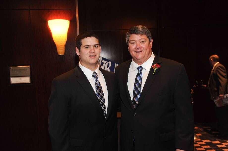 Grayson Bailiff and David Bailiff at the Paul Bear Bryant Annual Awards benefiting the American Heart Association. Photo: Alexander's Fine Portrait Design